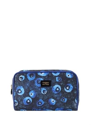 Fonfique Fonfique For Boyner Nazar Boncuğu 22 X 14 X 7,5 Cm Makyaj Çantası Mavi